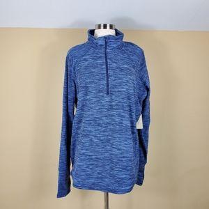 St. John's Bay Blue Heathered Pullover Tall Length